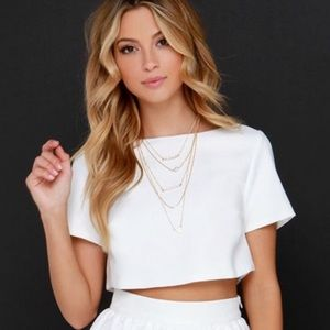 Lulu's clear eyed Crop Top White S